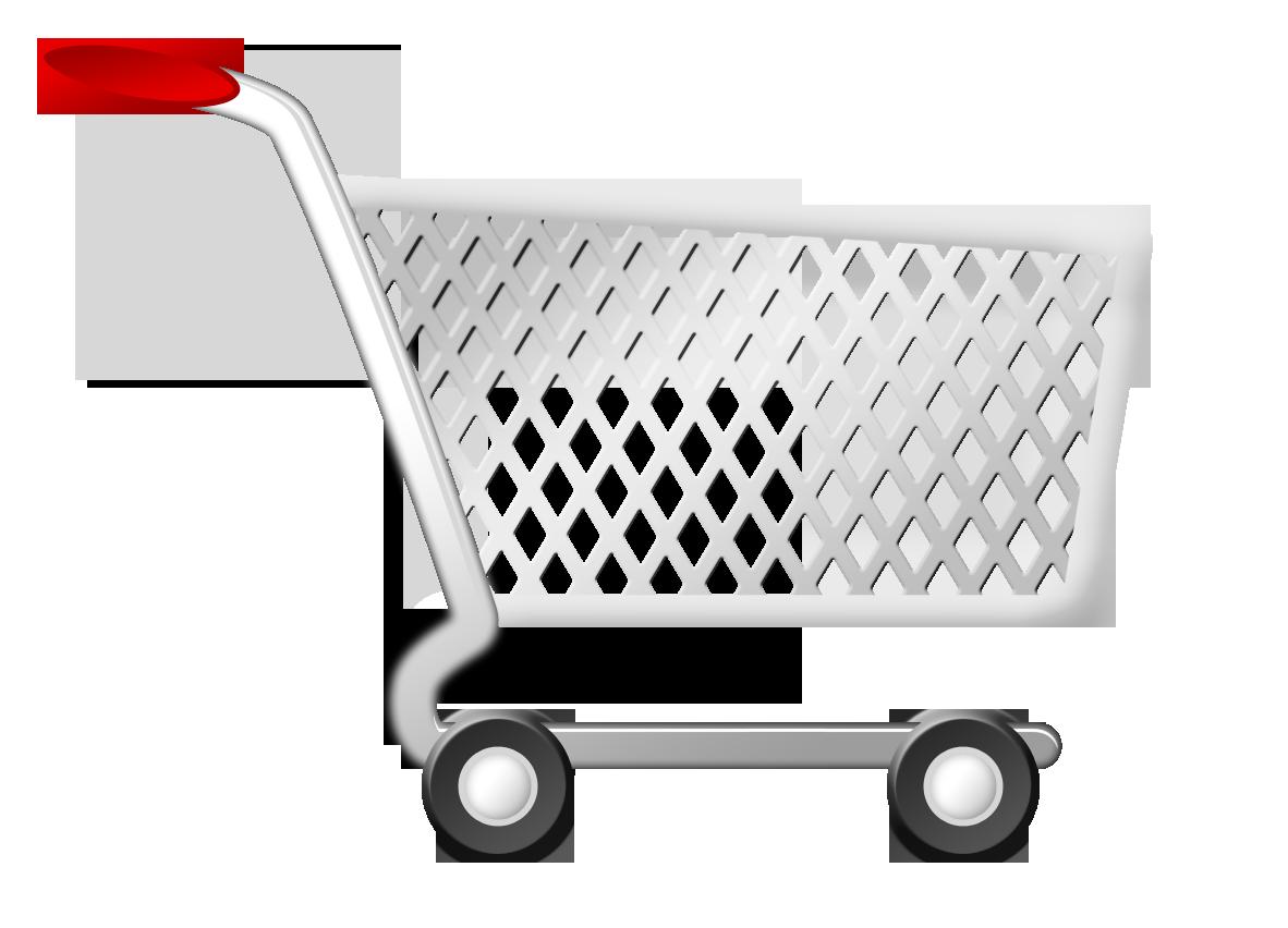 A shopping trolley.
