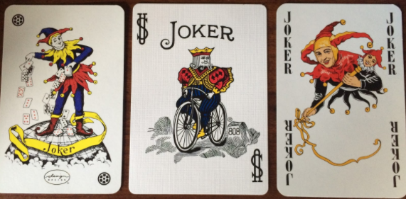 three joker playing cards